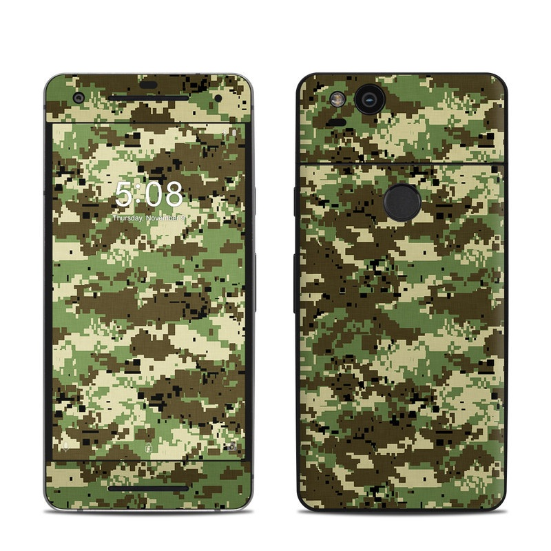 cost charm best prices autumn shoes Digital Woodland Camo Google Pixel 2 Skin