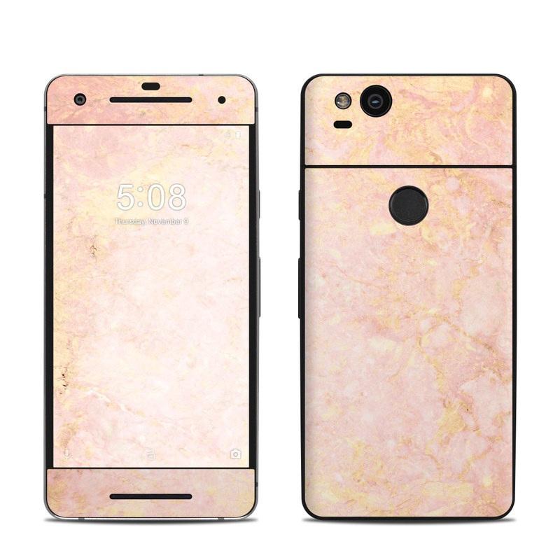 Google Pixel 2 Skin design of Pink, Peach, Wallpaper, Pattern with pink, yellow, orange colors