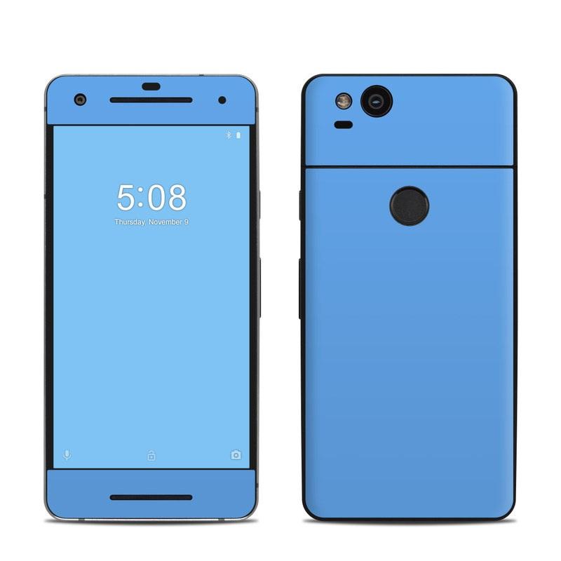 Google Pixel 2 Skin design of Sky, Blue, Daytime, Aqua, Cobalt blue, Atmosphere, Azure, Turquoise, Electric blue, Calm with blue colors