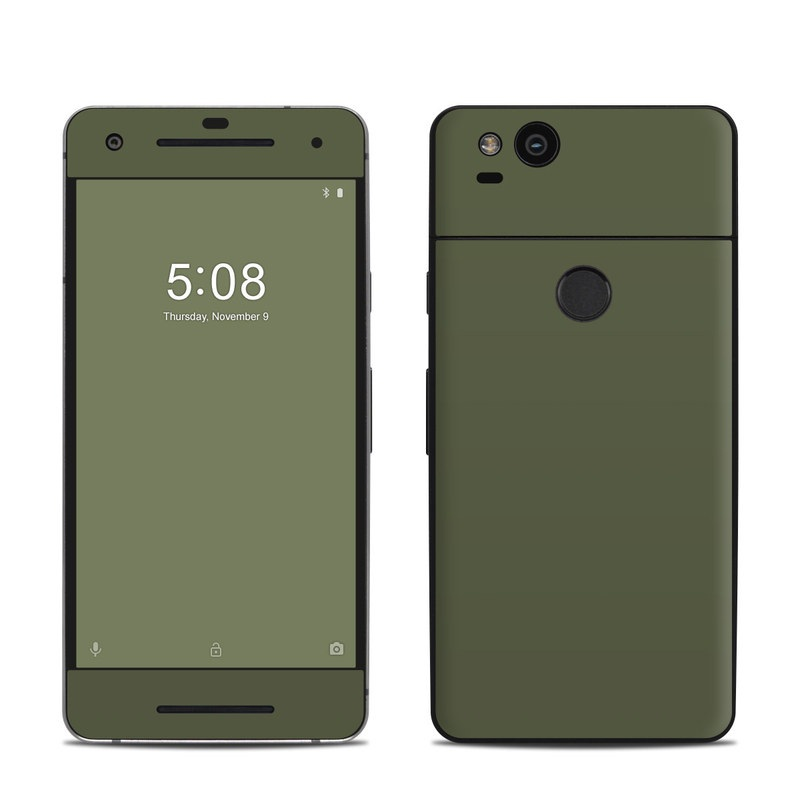Google Pixel 2 Skin design of Green, Brown, Text, Yellow, Grass, Font, Pattern, Beige with green colors