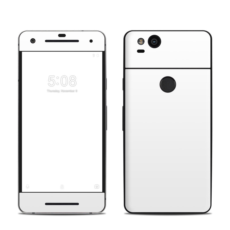Google Pixel 2 Skin design of White, Black, Line with white colors