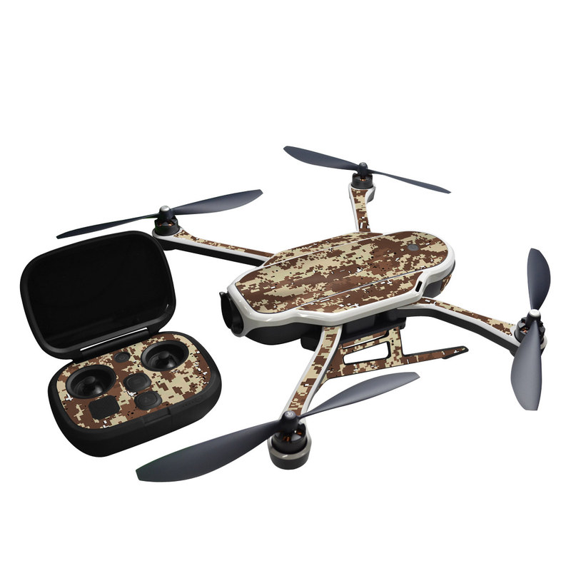 GoPro Karma Skin design of Military camouflage, Camouflage, Pattern, Brown, Uniform, Design, Textile, Beige, Metal with black, gray, red, green colors