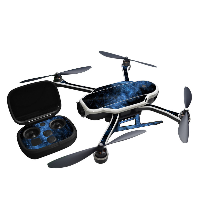 GoPro Karma Skin design of Sky, Atmosphere, Black, Blue, Outer space, Atmospheric phenomenon, Astronomical object, Darkness, Universe, Space with black, blue colors