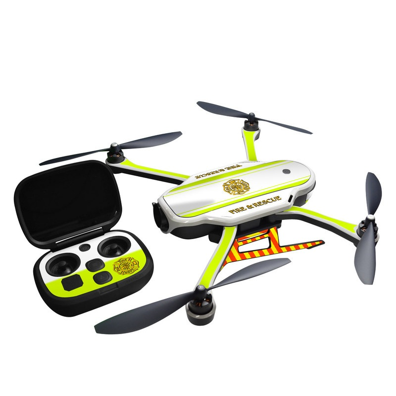 GoPro Karma Skin design of Yellow, Line, Font, Military rank with white, green, red, yellow colors