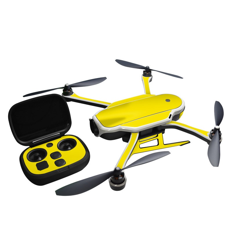 GoPro Karma Skin design of Green, Yellow, Orange, Text, Font with yellow colors