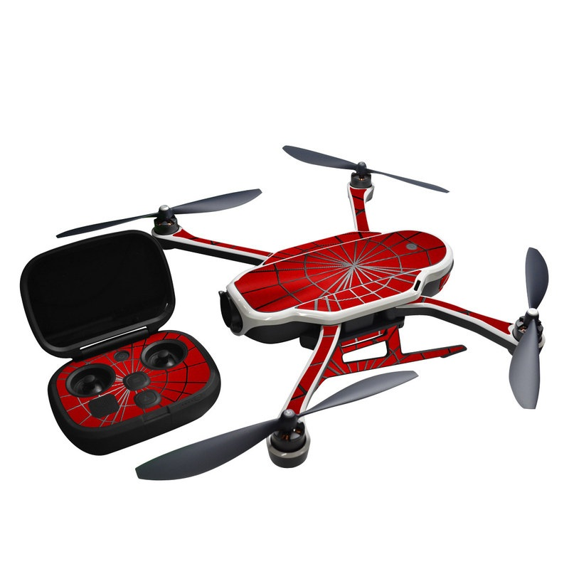 GoPro Karma Skin design of Red, Symmetry, Circle, Pattern, Line with red, black, gray colors