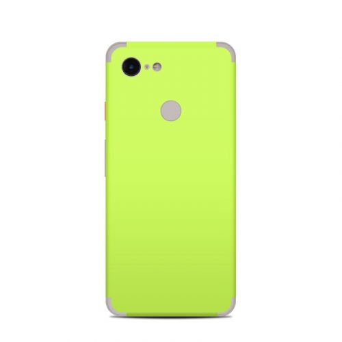 Solid State Lime Google Pixel 3 Skin