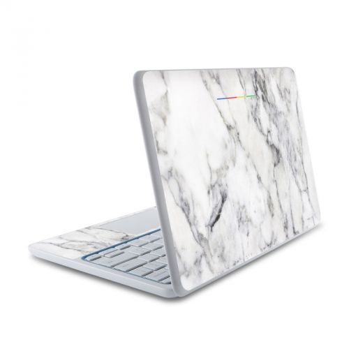 White Marble HP Chromebook 11 Skin