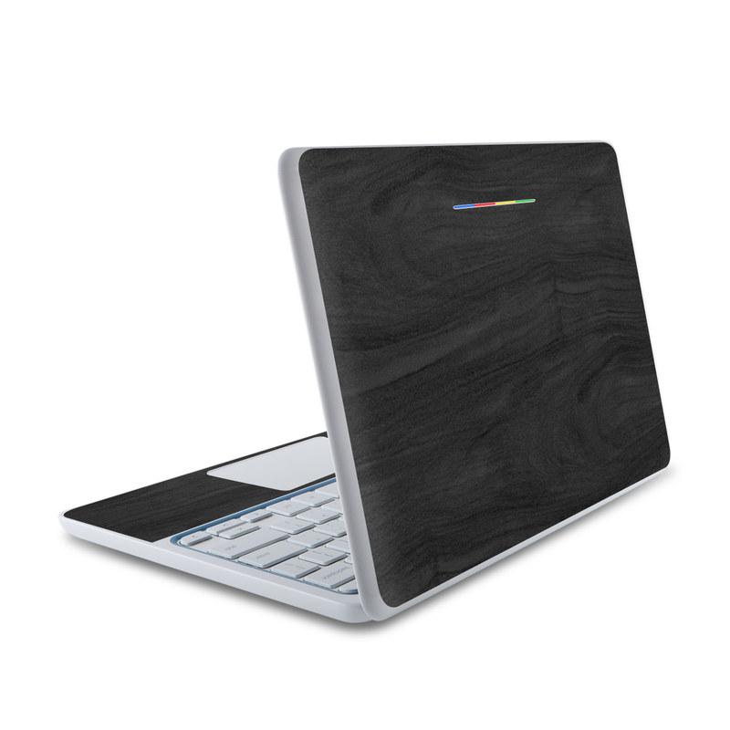 Black Woodgrain HP Chromebook 11 Skin