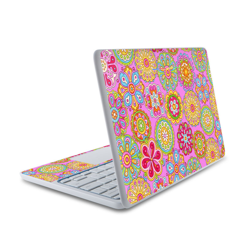 Bright Flowers HP Chromebook 11 Skin