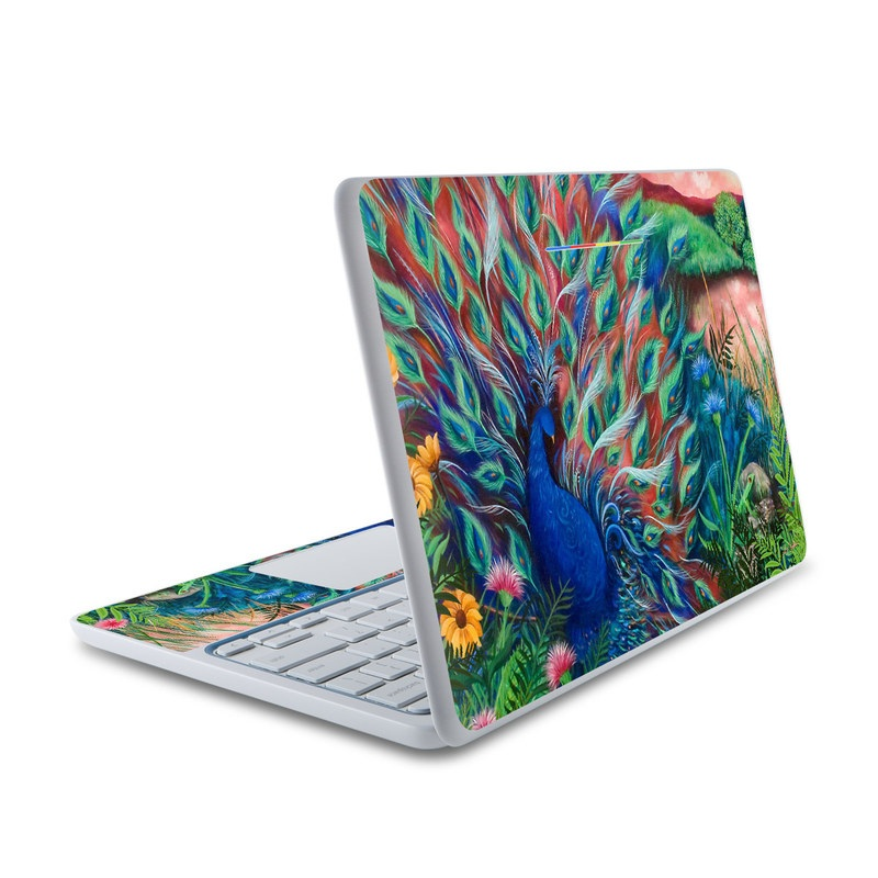 Coral Peacock HP Chromebook 11 Skin