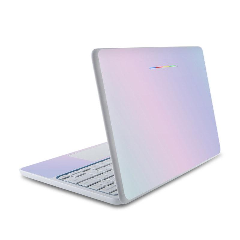 HP Chromebook 11 Skin design of White, Blue, Daytime, Sky, Atmospheric phenomenon, Atmosphere, Calm, Line, Haze, Fog with pink, purple, blue colors