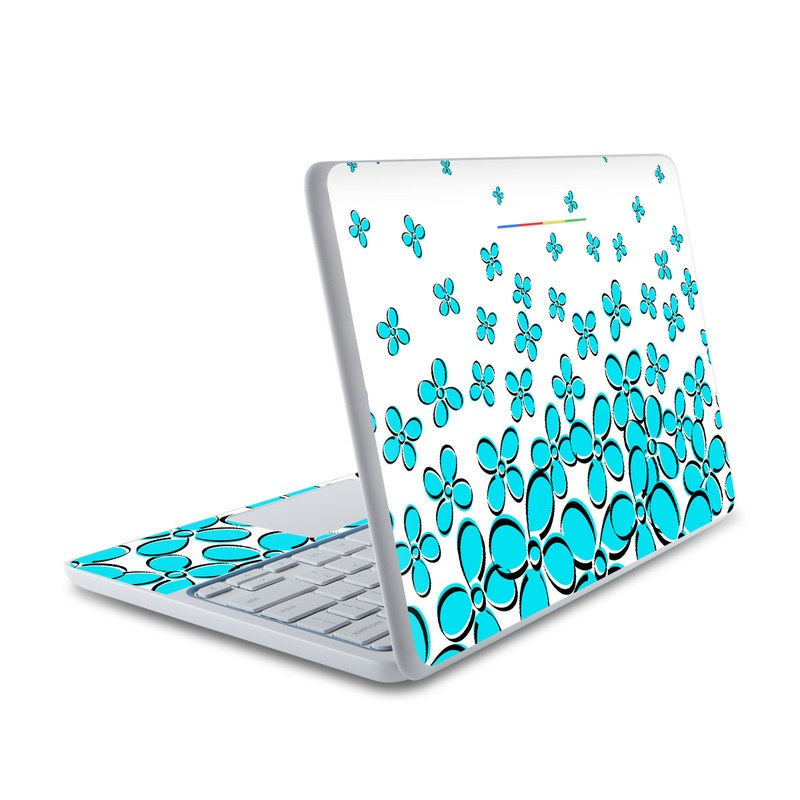 HP Chromebook 11 Skin design of Blue, Aqua, Turquoise, Green, Pattern, Teal, Azure, Line, Design, Circle with white, blue, gray, black colors