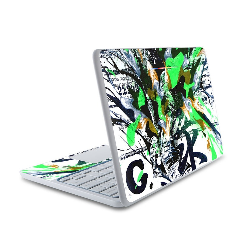 Green 1 HP Chromebook 11 Skin