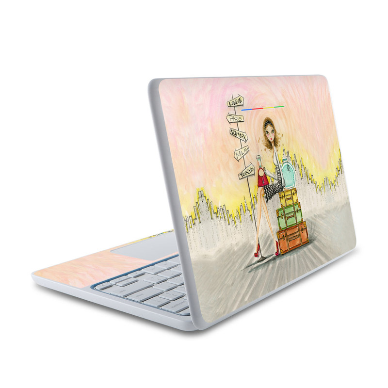 The Jet Setter HP Chromebook 11 Skin