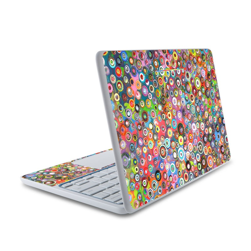 Round and Round HP Chromebook 11 Skin