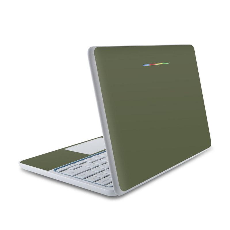 Solid State Olive Drab HP Chromebook 11 Skin