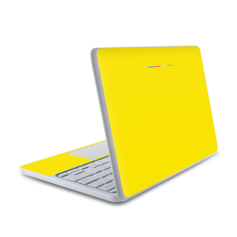 Solid State Yellow HP Chromebook 11 Skin