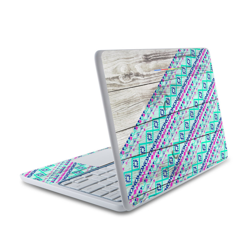 HP Chromebook 11 Skin design of Turquoise, Pattern, Pink, Line, Magenta, Parallel with gray, blue, purple colors