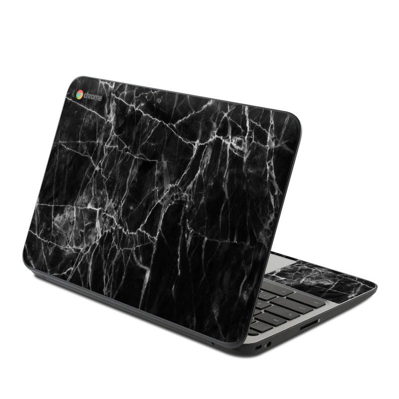 Black Marble HP Chromebook 11 G4 Skin