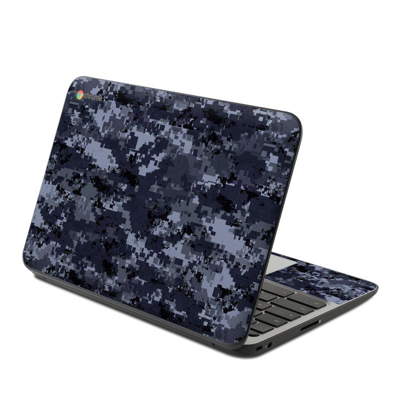 Digital Navy Camo HP Chromebook 11 G4 Skin