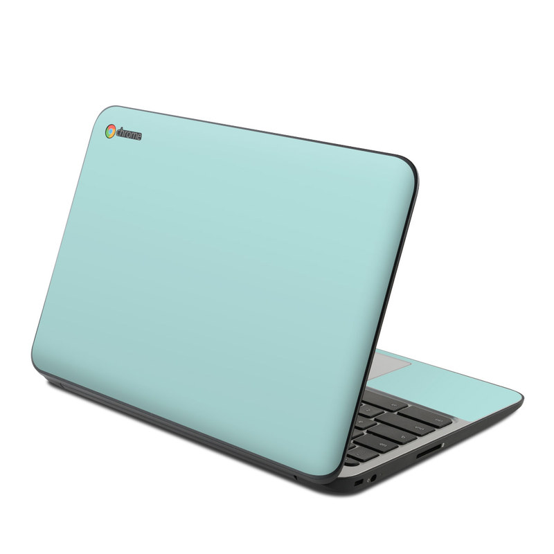 HP Chromebook 11 G4 Skin design of Green, Blue, Aqua, Turquoise, Teal, Azure, Text, Daytime, Yellow, Sky with blue colors
