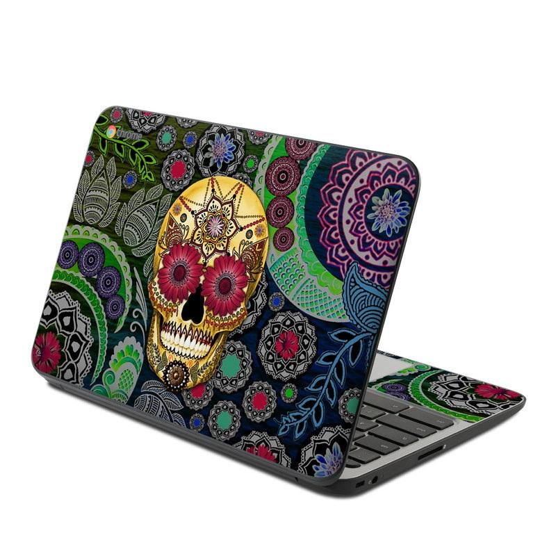 Sugar Skull Paisley HP Chromebook 11 G4 Skin