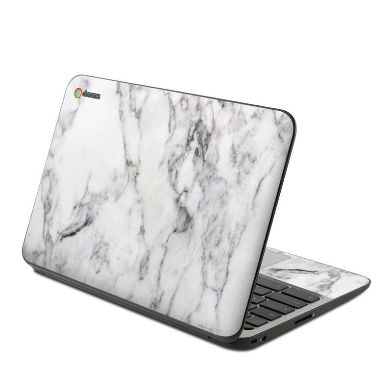 White Marble HP Chromebook 11 G4 Skin