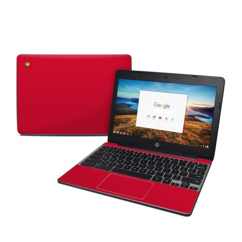 Solid State Red HP Chromebook 11 G5 Skin