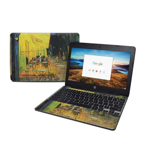 Cafe Terrace At Night HP Chromebook 11 G5 Skin