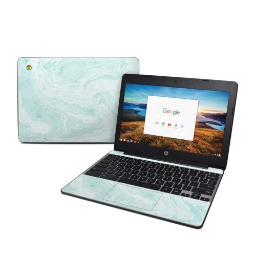 Winter Green Marble HP Chromebook 11 G5 Skin