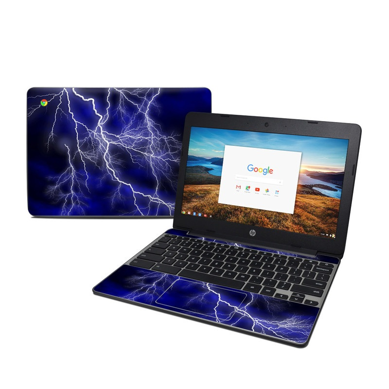 Apocalypse Blue HP Chromebook 11 G5 Skin