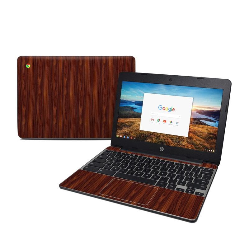 HP Chromebook 11 G5 Skin design of Wood, Red, Brown, Hardwood, Wood flooring, Wood stain, Caramel color, Laminate flooring, Flooring, Varnish with black, red colors