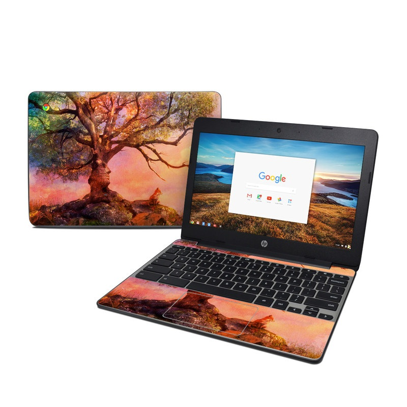 Fox Sunset HP Chromebook 11 G5 Skin