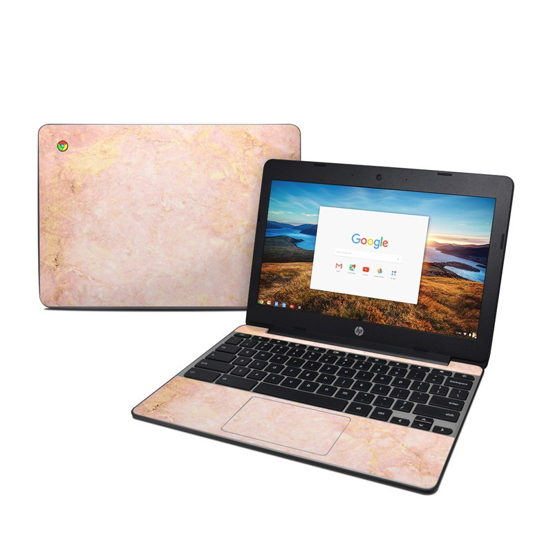 Rose Gold Marble Hp Chromebook 11 G5 Skin Istyles