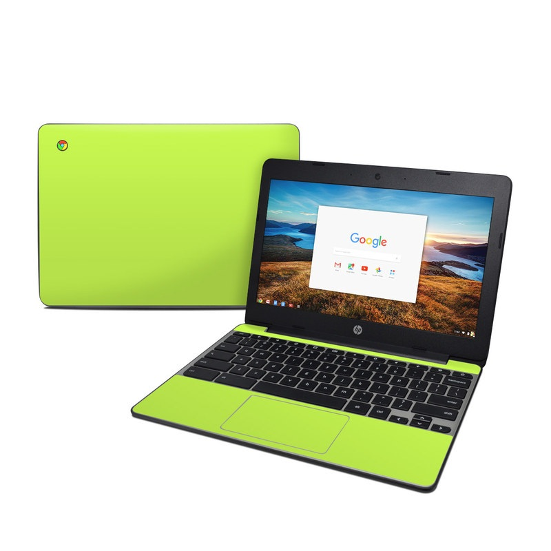 Solid State Lime HP Chromebook 11 G5 Skin