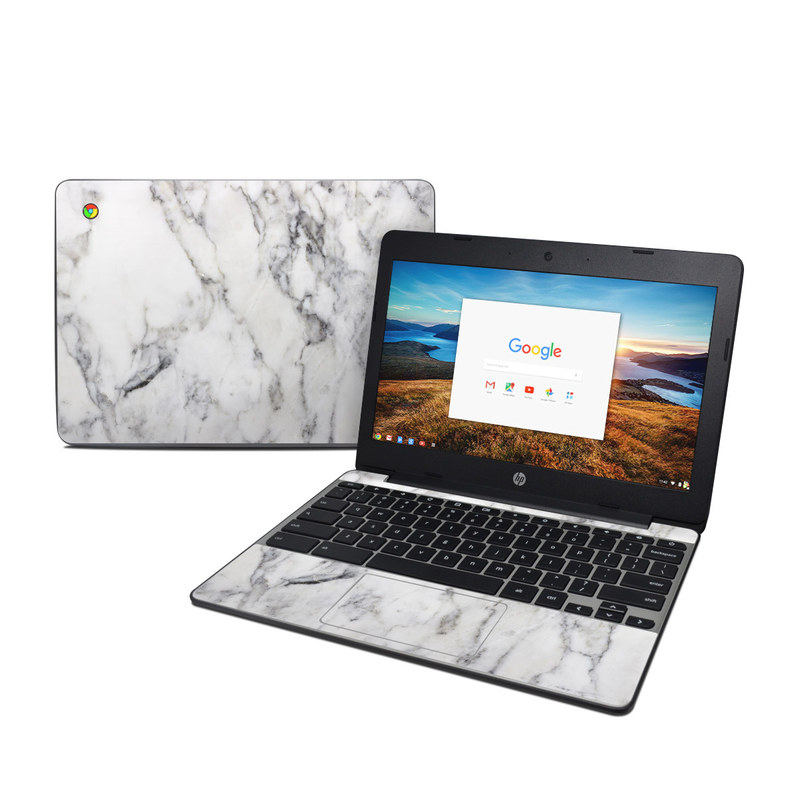 White Marble HP Chromebook 11 G5 Skin