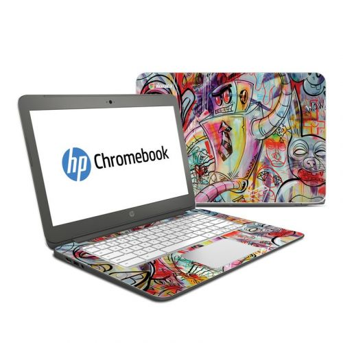 Battery Acid Meltdown HP Chromebook 14 Skin