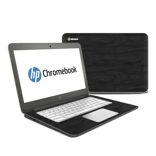 Black Woodgrain HP Chromebook 14 Skin