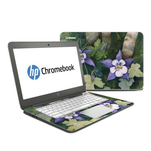 Colorado Columbines HP Chromebook 14 Skin