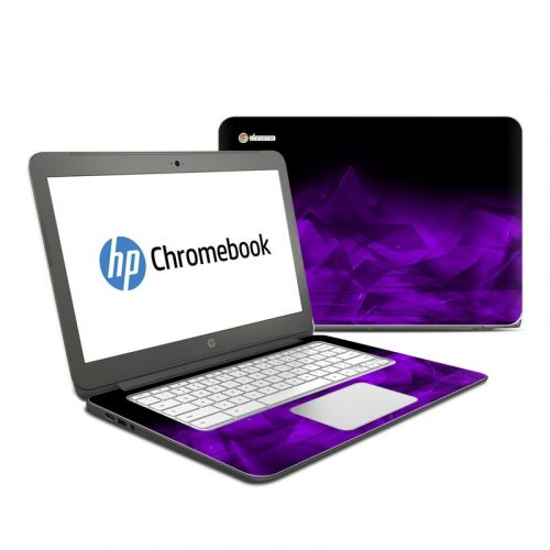 Dark Amethyst Crystal HP Chromebook 14 Skin