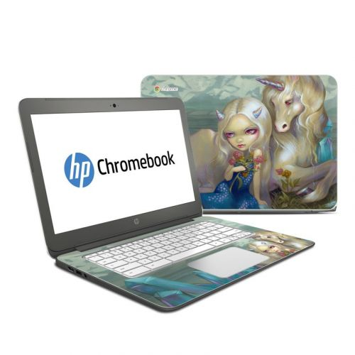 Fiona Unicorn HP Chromebook 14 Skin