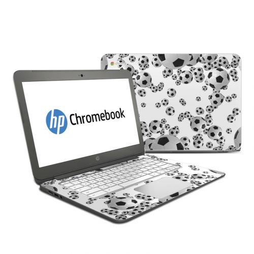 Lots of Soccer Balls HP Chromebook 14 Skin