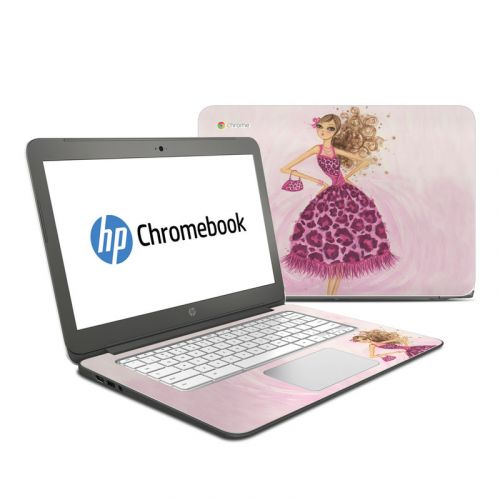 Perfectly Pink HP Chromebook 14 Skin