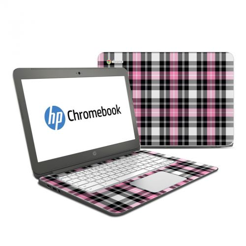 Pink Plaid HP Chromebook 14 Skin