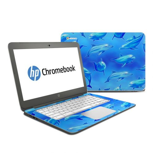 Swimming Dolphins HP Chromebook 14 Skin
