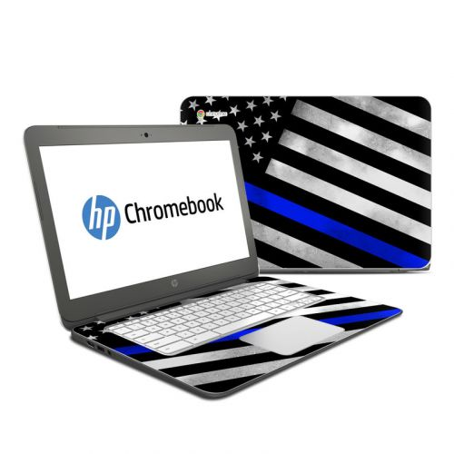 Thin Blue Line Hero HP Chromebook 14 Skin