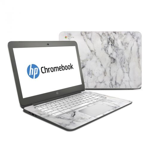 White Marble HP Chromebook 14 Skin