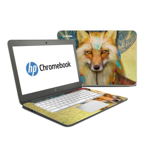Wise Fox HP Chromebook 14 Skin