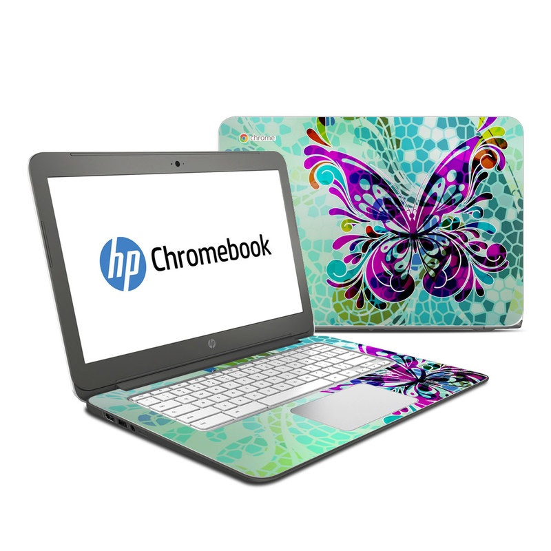 Butterfly Glass HP Chromebook 14 Skin